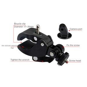 Image 3 - SnowHu Gopro aksesuarları için bisiklet motosiklet bisiklet gidon kolu Bar kamera dağı Tripod adaptörü Gopro Hero 9 8 7 6GP73