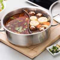 Haute qualité en acier inoxydable hot pot, chinois fondue agneau chinois charbon de bois hotpot en plein air cuiseur pique-nique cuiseur kochtopf
