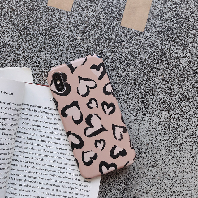 Lovely Heart Retro Leopard Case For iPhone 2