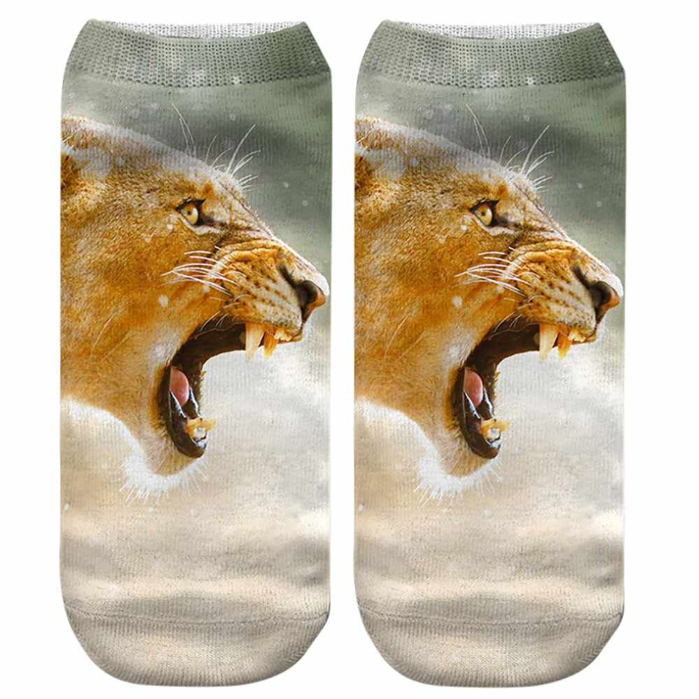 3D calzini di stampa Animale Panda Gigante della Tigre Sveglio di Stampa Medio di Sport calzini divertenti Mujer Unisex confortevole calzini calcetines mujer