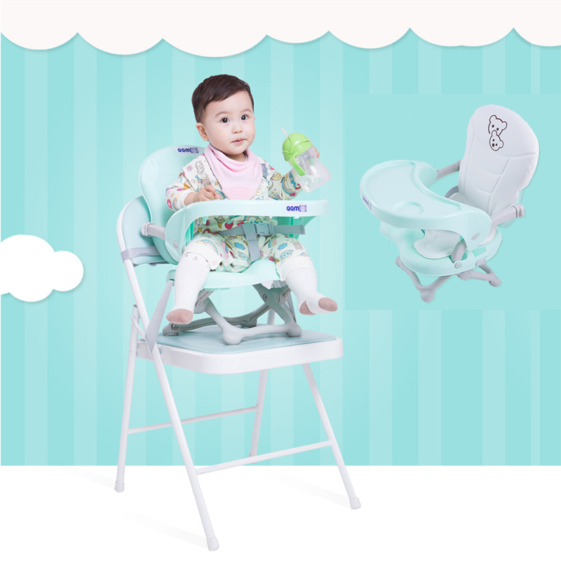 Portable Booster Seats Baby Feeding High Chair Toddler Dinning Chairs Safety Anti Slip Belt Feeding Plate Table For Babies
