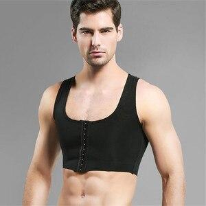Image 3 - 男女性化乳房シェイパー制御おっぱい見えないベストシェイパーバックコレクター黒、白スリム胸フック調節可能なコルセット