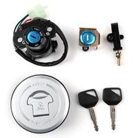 Areyourshop Motorcycle Ignition Switch Lock Fuel Gas Cap Set For Honda XLV650 XL650 Transalp 2000 2006 Motor Lock Accessories