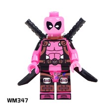 1PCS model bouwstenen actiefiguren starwars superhelden Roze Deadpool Collectie Serie hobby diy speelgoed voor kinderen gift(China)
