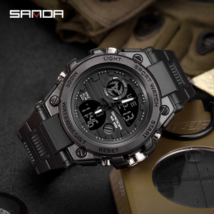 Image 3 - 2019 new SANDA นาฬิกาแบรนด์หรูทหารนาฬิกาควอตซ์ผู้ชายกันน้ำดิจิตอลนาฬิกา relogio masculino