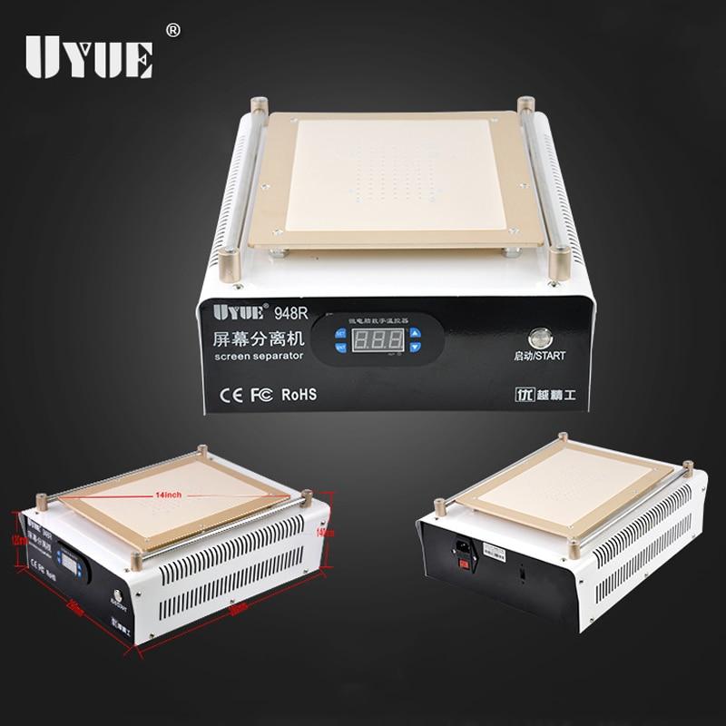 UYUE 948R iMAX 14inch LCD Screen Separator Machine, LCD Separator, Built-in Vacuum Machine for Ipad Air 1 2 LCD Screen Repair b101xt01 1 m101nwn8 lcd displays