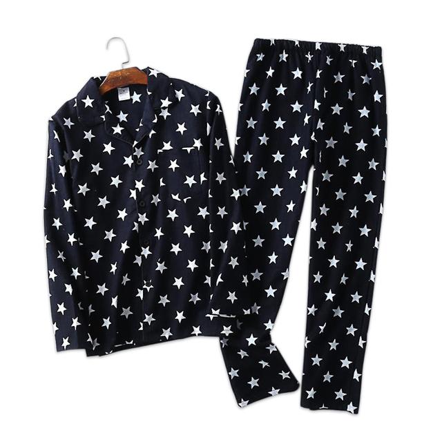 Men's Printed Cotton Pajamas