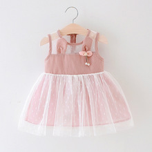 New 0-24M Casual Summer Baby Girl Dress Cotton Solid Plaid Sleeveless Cute Infant Girls Dresses Toddler baby girl clothes цена 2017