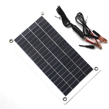 10W 18V 12V Portable Solar Panel Charger with DC 5521 Cable For 12V Car Boat Motor Battery Charger