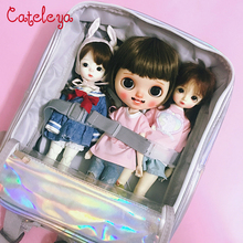 Cateleya BJD doll 1/6 blythe little cloth 20cm out bag backpack accesories