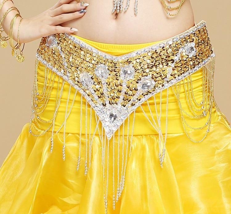 Trajes de danza del vientre alta calidad Danza del vientre cadera bufanda cinturón  falda cinturón Cuentas danza del vientre hip cinturón de abrigo de la ... 4f21af2a26f8