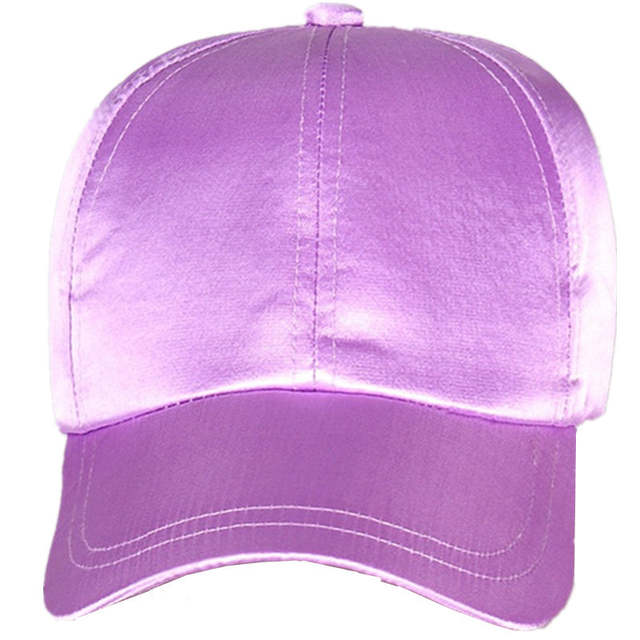 e43f6f9868a placeholder New Satin Fitted Baseball Cap Women Slik Dad Hats For Men Hip  Hop Snapbacks Caps Spring