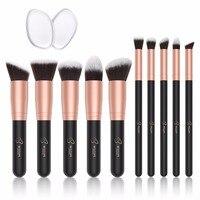 BESTOPE 10pcs Makeup Brushes Set Powder Foundation Brush Makeup Tools Kit Blending Synthetic Hair Cosmetic Brushes
