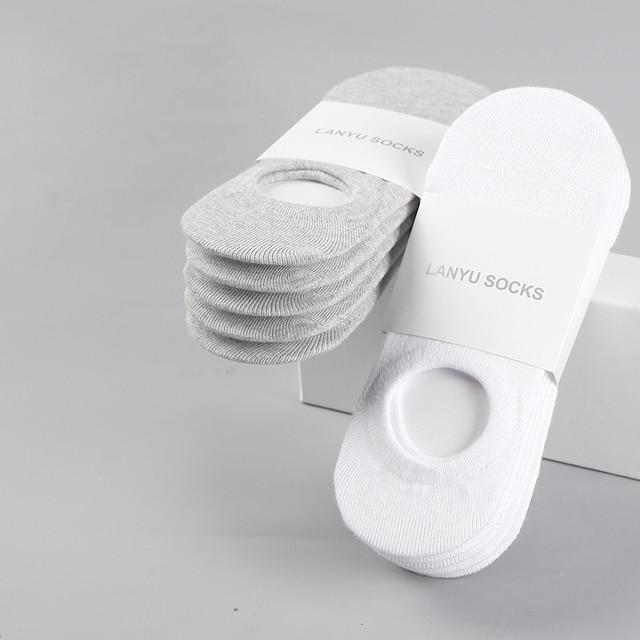 5Pair/lot Fashion Happy Men Boat Socks 3