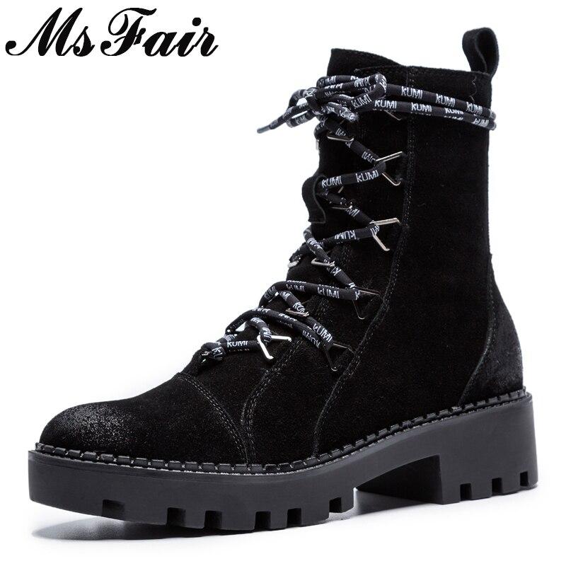 Msfair Negro Punta Cremallera Botas Zapatos Con Mujeres Redonda De Cruz Las Metal Concisa Atado Moda Mujer Planos marrón Tobillo Elegante rUgqEr