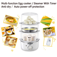 brand Multi function timing Egg cooker / Steamer Anti dry / Auto power off protection with Stainless steel bowl 350W