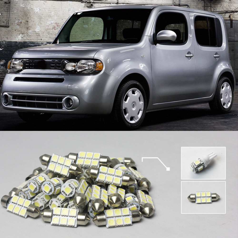 Toyota toyota cube : Car Styling Free Shipping!! #08 7x White LED Lights Interior Dome ...