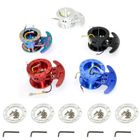 New High WORKS BELL Tilt Racing Steering Wheel Quick Release Hub Kit Adapter Body Removable Snap Off Boss Kit With Logo WK ST02
