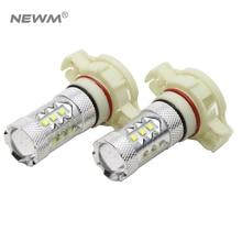 2×30 Вт/50 Вт/80 Вт H16 5202 светодиодный лампы CREE чип автомобилей противотуманные DC 12 В ~ 24 В 360 градусов белый/желтый/красный 6000 К ДРЛ лампы свет поиска