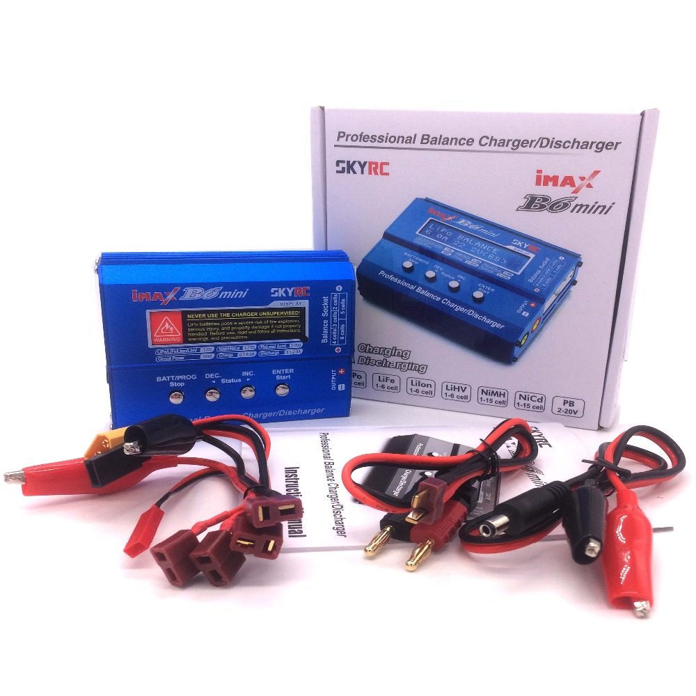 Оригинал SKYRC IMAX B6 мини баланс RC Зарядное устройство/Dis Зарядное устройство для Вертолет Re-пик NIMH/NICD самолет + Мощность Adpater (необязательно)