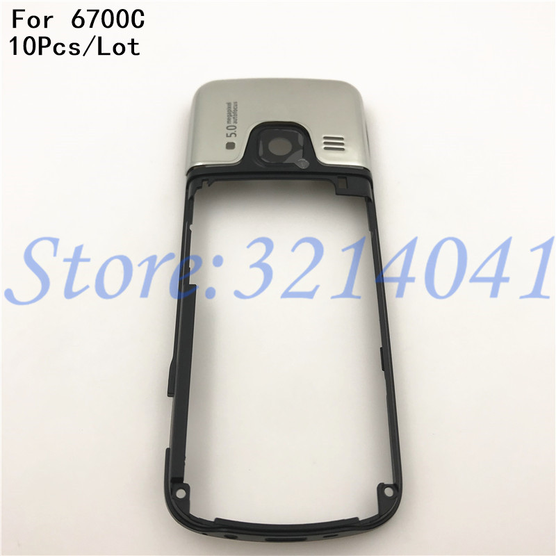 10Pcs/Lot Original 6700C High Quality Replacement Part Middle Frame <font><b>Housing</b></font> Case Cover For <font><b>Nokia</b></font> 6700C <font><b>6700</b></font> Classic image