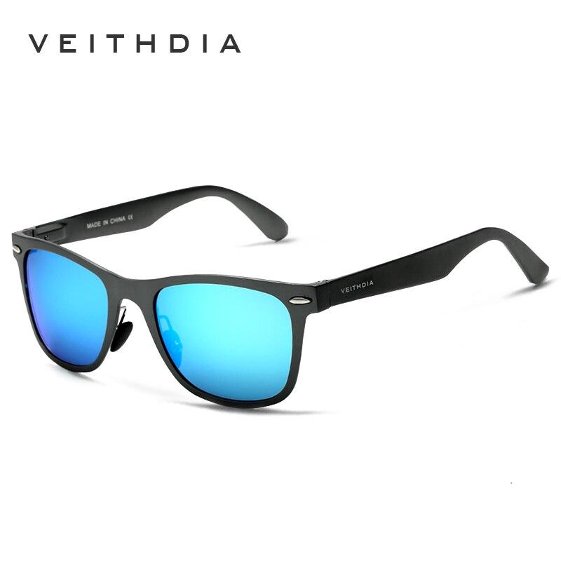 VEITHDIA Aluminium Magnesium Mode Für Männer Spiegel Sonnenbrille Goggle Brillen Weiblich/Männlichen Accessoires Sonnenbrillen Für Frauen/Männer