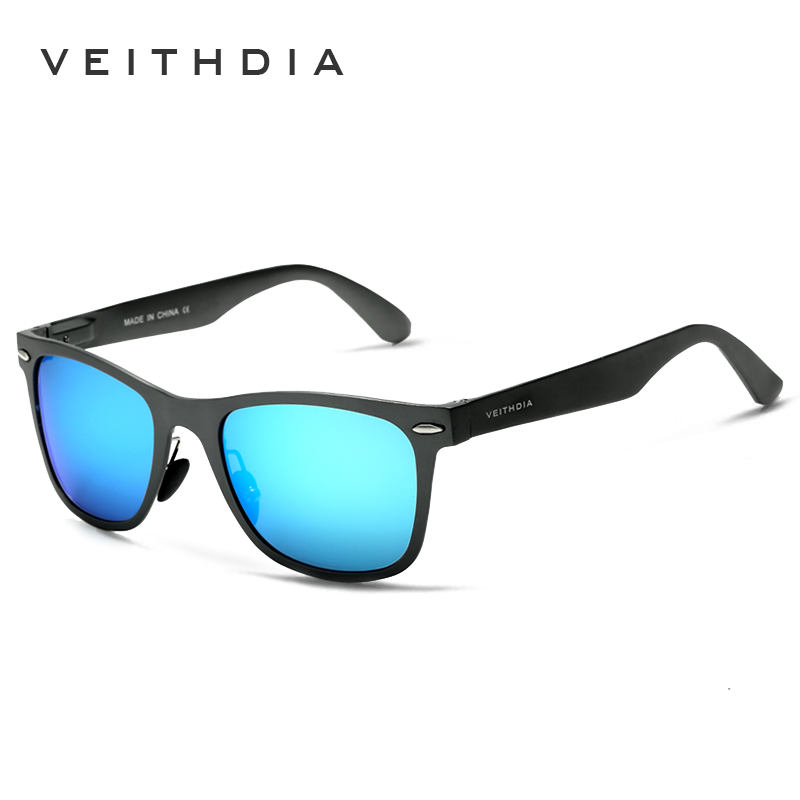 122e4b7c77 VEITHDIA Aluminum Magnesium Fashion Men s Mirror Sun Glasses Goggle Eyewear  Female   Male Accessories Sunglasses For Women Men