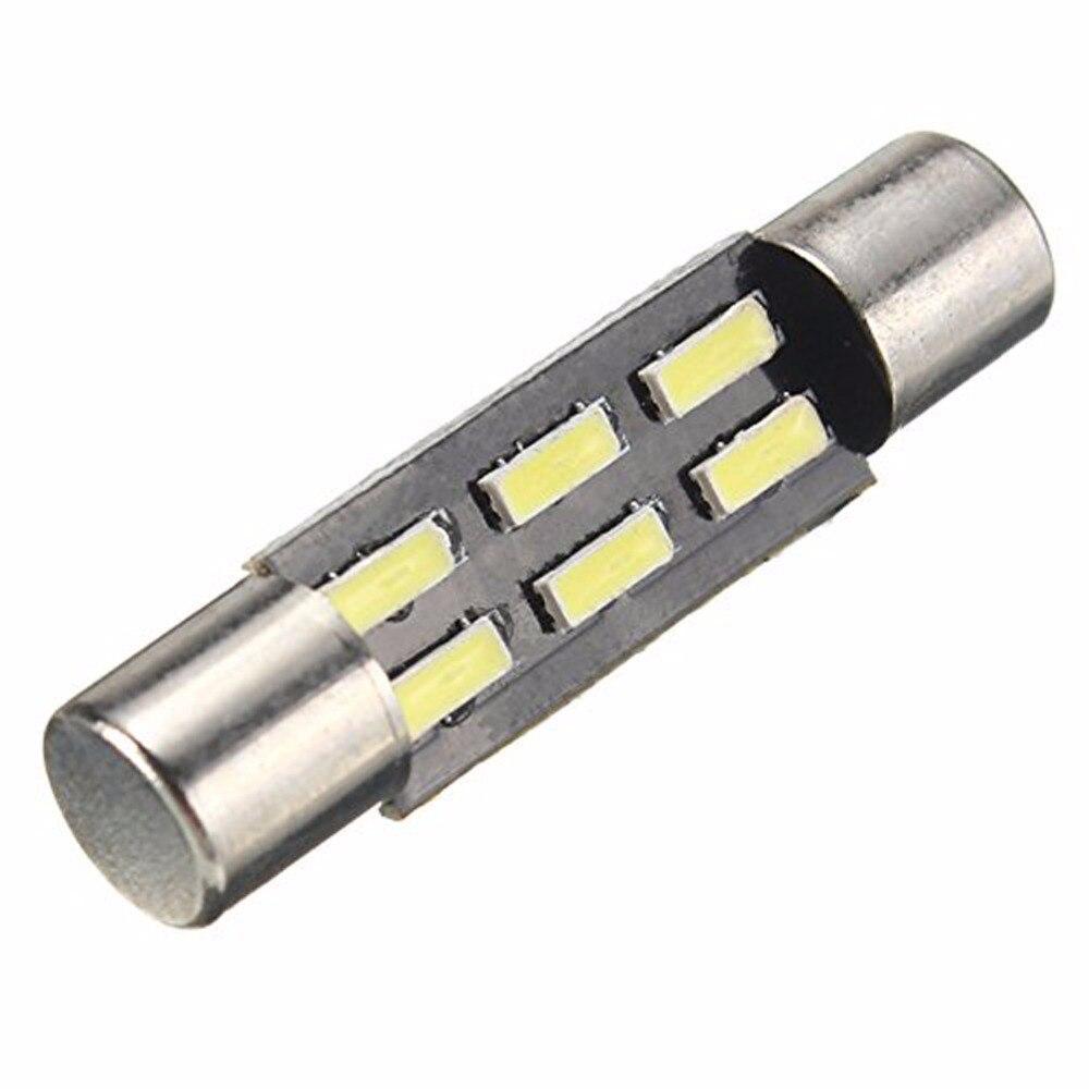 SODIAL R 2x Festoon CANBUS 41mm C5W SV8 5050 Light Bulb Interior Number Plate White