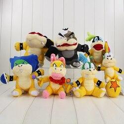 7pcs/lot Koopalings Plush Toy Super Mario 7 Bowser Team Larry Iggy Roy Lemmy Ludwig Von Morton Koopa Jr. Wendy O Stuffed Dolls