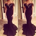 2016 Sexy Mermaid Prom Dress Cap Sleeve Evening Party Sweetheart Evening Gown Vestido de Festa New Evening Dress Long 1539