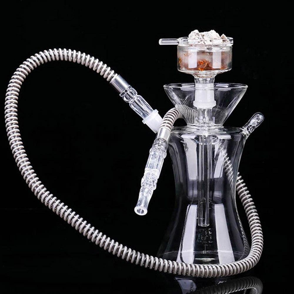 Narguilé en verre narguilé narguilé tuyau en verre narguilé énorme vapeur Chicha vaporisateur narguilé fumer bong BD65C
