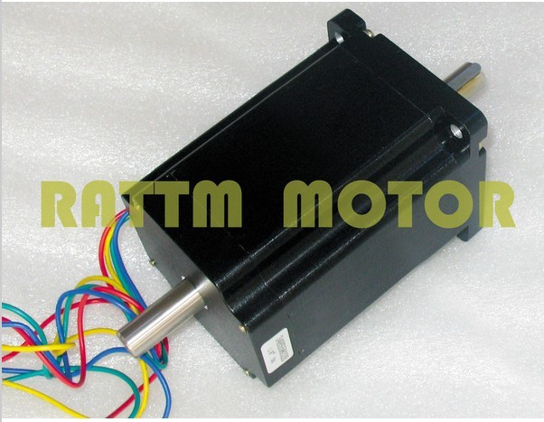 Quality NEMA34 116mm/ 1230 Oz-in/5.0A Dual shaft stepper motor stepping motor 4wire for Small and Large CNC Router Machine цена