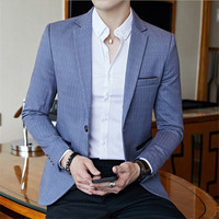 Male Stylish Blazer Spring Autumn Dot Striped Blazers Male Striped Blazer Slim Fit Blazer Slim Masculino Business Casual suits