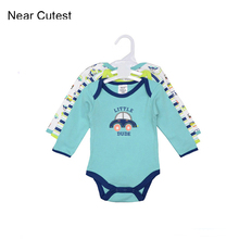 3pcs/lot Winter Baby Romper Long Sleeve 100% Cotton Bebe Clothing Newborn Baby Boy Clothes Infant Jumpsuit 3pcs lot baby bodysuit newborn bebe boy clothing 100%cotton clothes cute cartoon printed romper jumpsuit climbing clothes