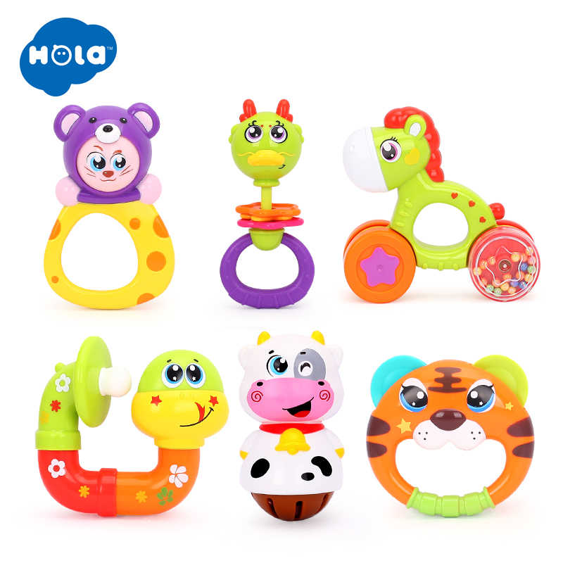 4d090d94a3a9 12pcs/Lot Baby Toys Animal Handbells Developmental Toy Hand Shake Bed Bells  Kids Educational Toys Baby Rattle Xmas Gifts