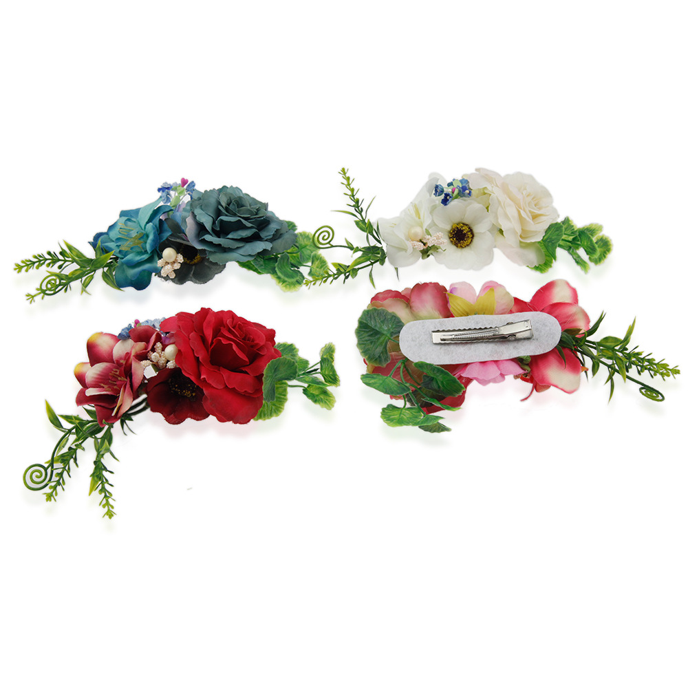 цена на Children hair accessories simulation Flower Headbands DIY Handmade girls hair clips Hairpins Wedding Bride Beach headwear
