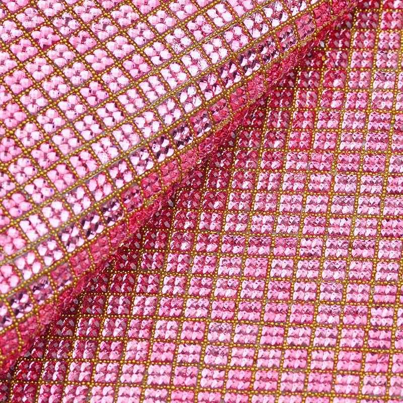 JUNAO 24x40cm Pink Crystal Self Adhesive Rhinestones Trim Hot Fix Strass Resin  Crystal Mesh Iron On Strass Roll Band for Clothes-in Rhinestones from Home  ... 2a9016df6c9f