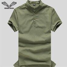 VISADA JAUNA Men's Linen Shirt Men's Round Neck Sweater 2017 Summer New Men's Short-sleeved LineShirt Style Patchwork N19