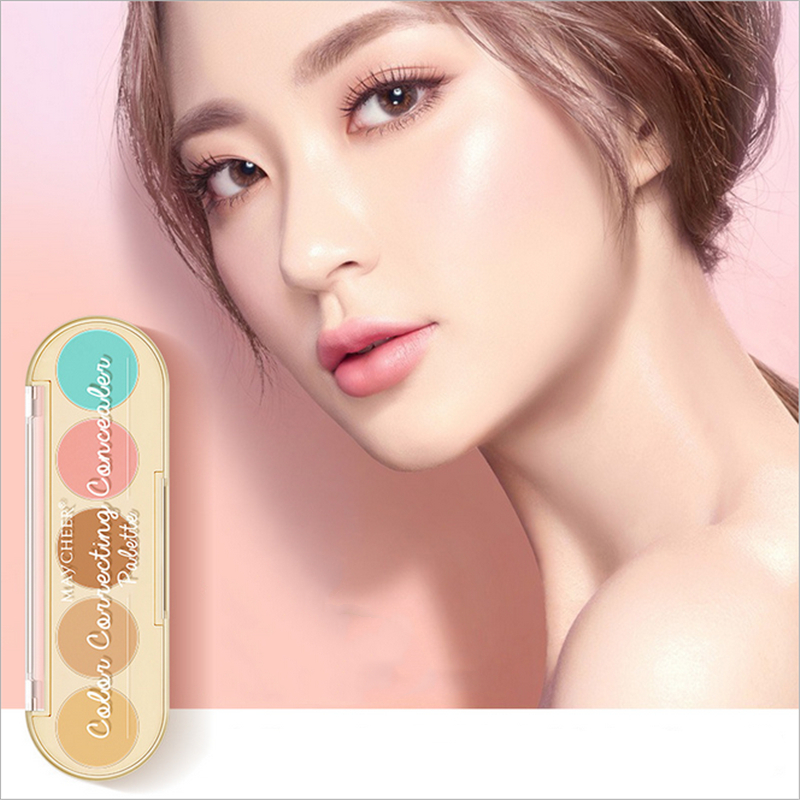 5 Colors Nude Makeup Beauty Concealer Cover Acne Print Spots Multi Function Makeup Pallete Repair Capacity Brighten Cosmetics