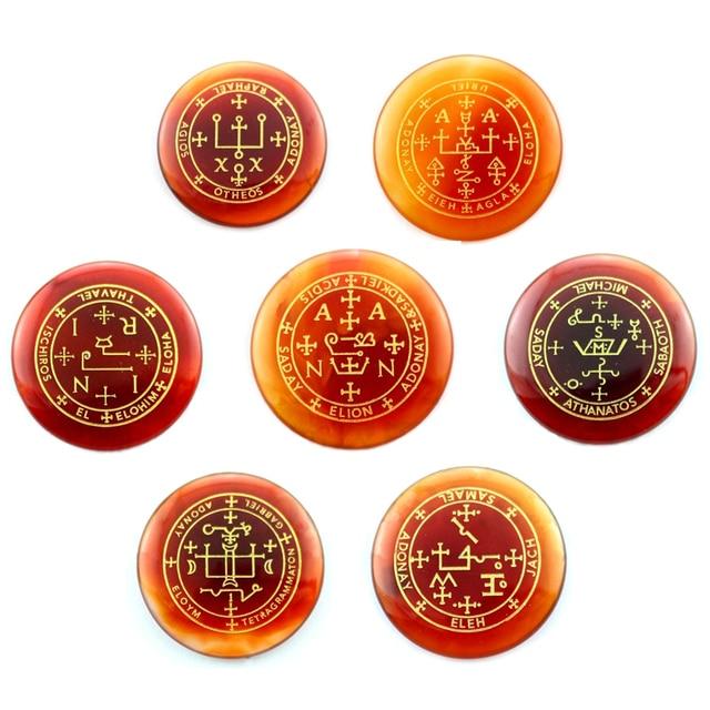 Фото набор из 7 натуральных камней амулет маятник рейки лечебные