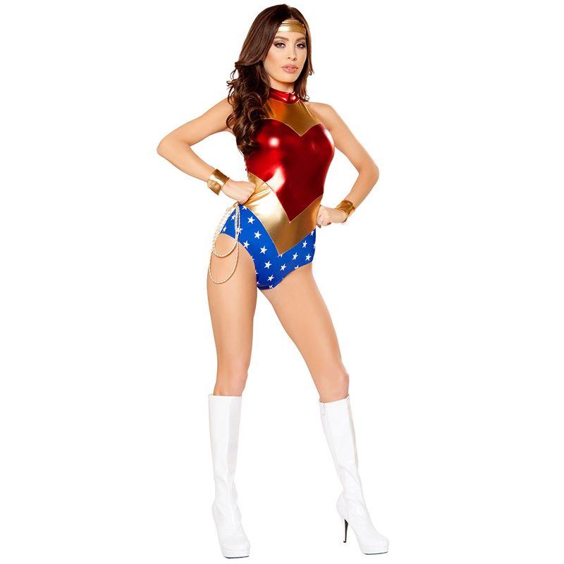 DC Hero Wonder Women cospaly Suit Uniform Dress Outfit Woman Super Hero Carnival Party Sexy Costume for Adult Lady