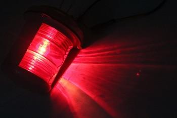 Luz De Navegación De Yate Marina De 25W 24V Luz De Cabeza De Máscara De 225 Grados Rojo/Verde/blanco Cálido