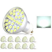 10X GU10 LED Bulb 4W AC 195 240v Spotlight 29 pcs SMD 5050 Spot Light Bulb Aluminum LED Bulbs Light High quality Spotlight