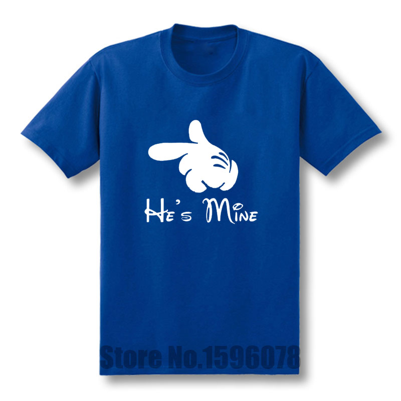3dcc86e22c1 Funny Summer Style I m Hers He s Mine Mens Funny lovers T Shirt Custom  Pattern cotton man T-shirt casual