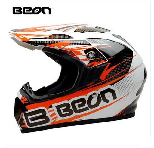 Netherland BEON мотоциклетный шлем для мотокросса высшего качества рыцарь внедорожный мотоциклетный защитный шлем из АБС B-600 Размер M L XL - Цвет: Bright white orange