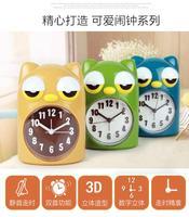Dekoracji Sztuki kwarcowe zegarki Conbas, kreatywny kreskówka wyciszenia, luminous lazy budzik, dzieci w szkole podstawowej, wyciszenie łóżko