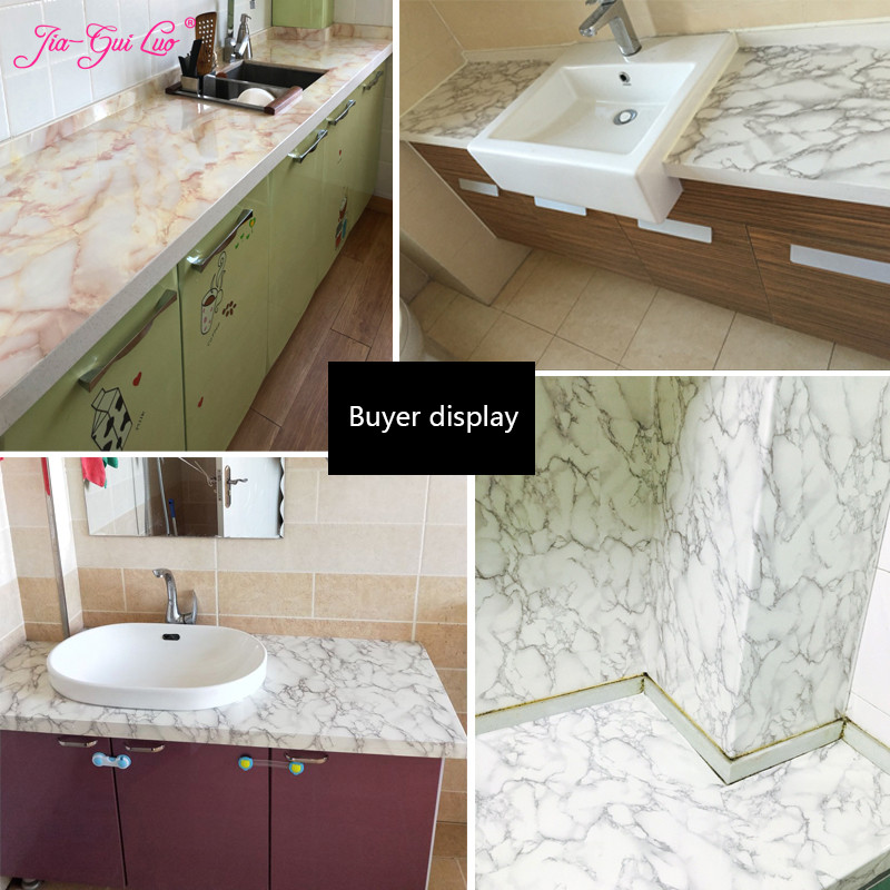 Thick waterproof pvc imitation Marble pattern stickers wallpaper self adhesive renovation of furniture
