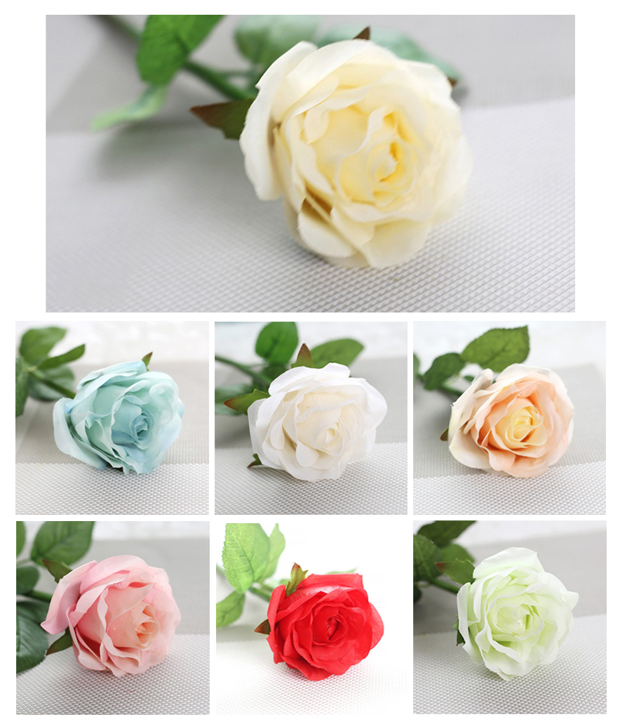 10pcslot Artificial Silk Rose Flowers Bouquet Simulation Flowers