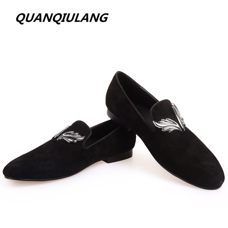 New fashion Brand Designer High Quality Personality Wings Handmade Genuine Leather Man Shoes Wedding And Party Loafers Men Flats