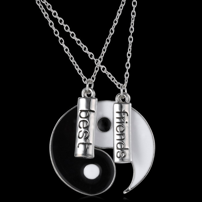 Couple jewelry personalized yin yang necklace broken necklace best couple jewelry personalized yin yang necklace broken necklace best friend hand stamped pendant two pendants for friends gifts in pendants from jewelry mozeypictures Choice Image